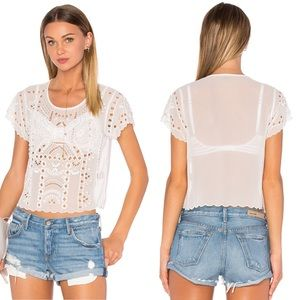 Lovers + Friends Weekender Ivory Top NWT